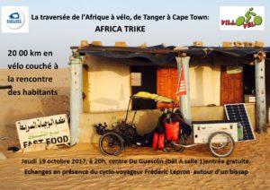 Projection d'Africa Trike (un film de Frédéric Lepron) @ Bât A, Salle 1, Dugesclin
